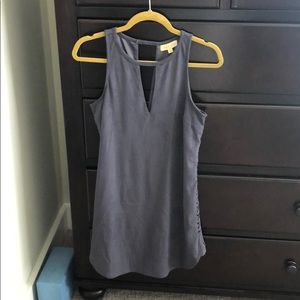 Grey Suede Black Swan dress